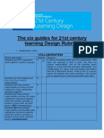 the six guides for 21st century learning design rubrics