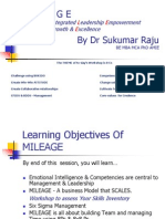 Prof Sukumar Raju's MILEAGE -Road Map for Wining PPT