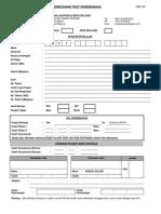 PMA006 - Borang Permohonan Tiket