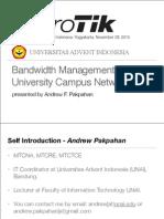 Bandwidth Management in University Campus