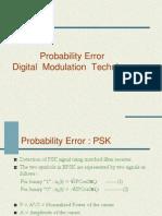 Probability Error of Psk,Fsk