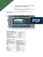 Lecteur DVD Pour Ford Transit Connect Avec Système de Navigation GPS TV Et Bluetooth