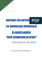 Raport de Activitate La Educația Muzicală