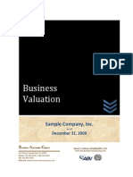 Sample Business Valuation - BAG
