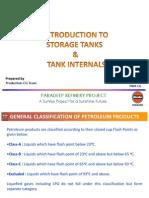 Introduction to Storage Tanks & Tank internals