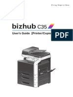 BizhubC35Printer Copier ScannerUserGuide