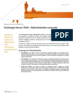 WorkshopPLUS - Exchange Server 2010 Administration Avancee