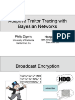 Adaptive Traitor Tracing with Bayesian Networks (slides)
