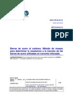 DOE 057 INTE 06-09-04-10 Barras de Acero Al Carbono. Método de Ensayo Para Determinar La Resistencia a La Tracción de Las Barras de Acero Utilizadas en Concreto Reforzado
