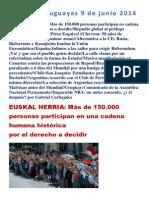 Noticias Uruguayas 9 de Junio 2014