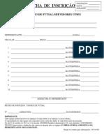 Futsal - Formulario e Regulamento de Inscricao