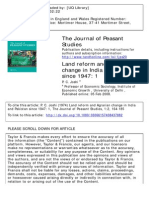 Land Reform and Agrarian Change in India and Pakistan Since 1947 I