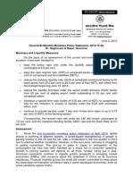 2nd Bi Monthly Monetary Policy Statement