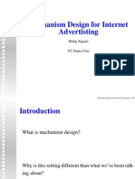 Mechanism Design for Internet Advertising (slides)