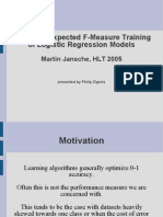 presentation on jansche, hlt2005