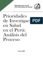 Prioridades de Investigación Salud Perú