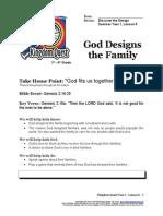 God Designs the Family