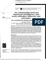 Emotional intelligence, work attitudes, behaviours and outcomes