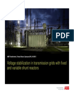 Voltage Stabilization With Shunt Reactors