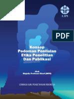 Konsep Pedoman Penilaian Penelitian Dan Publikasi 2013