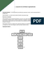 Tema - Schimbarea Organizationala