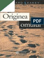 Richard Leakey Originea Omului Humanitas 1995