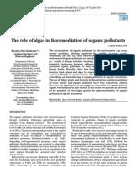 The role of algae in bioremediation of organic pollutants