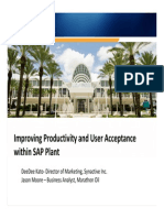 2603 Improving Productivity and User Acceptance Within SAP Plants