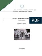 Politica Si Administratie - Suport de Curs (1)