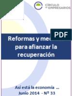 Reformas y Medidas Para Afianzar La Recuperación-Así Está La Economía-Junio 2014-Círculo de Empresarios