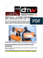 DMW Games LA Games Conference 2014 - Event Review Part Two - David L. $Money Train$ Watts - FuTurXTV - 5-5-2014