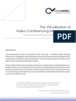 Virtualisation of Video Conferencing Infrastructure