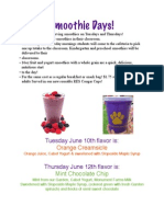 Smoothie Flyer 6-8