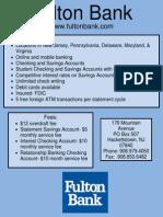 depository institution flyer