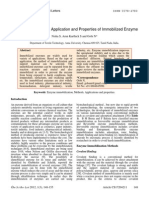A Review on Methods, Application and Properties of Immobilized Enzyme