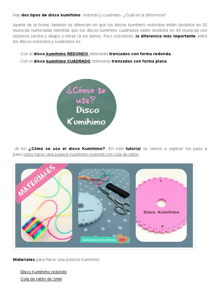 Disco Kumihimo – qué es, cómo usarlo + tutorial pulsera _ Blog de ...