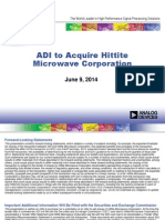 Analog Devices to acquire Hittite Microwave