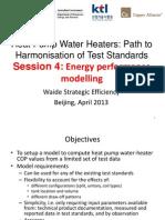 APEC Heat Pump Water Heater ProjectApr2013 Beijing WorkshopModeling Simulation Overview