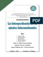 La Interdependencia de Los Ajustes Internacionales