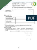 FORMULIR Pendaftaran Seleksi IMO PSPD Untan