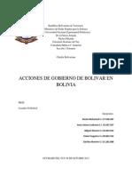 Acciones de Gobierno de Bolivar