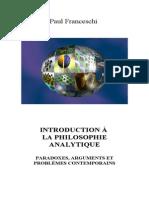 Intro à la philosophie analytiques (paradoxes philosophiques)