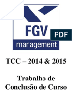 Orientações de TCC - MBA 2014 2015
