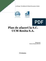 Plan de Afaceri - SC UCM Resita SA