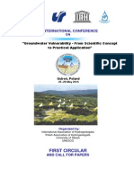 """IAH Conference """"Groundwater vulnerability"""""""