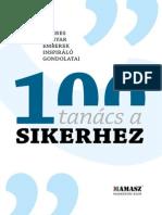 MAMASZ 100 Tanacs a Sikerhez