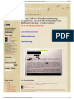 Strahlenfolter Stalking - TI - Paranoide Schizophrenie - Halluzinationen, Uneinsichtig - Der 25. Fall Der Psychiatrisierung - Behoerdenstressnews