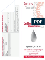 NJ Drinking Water Operator Review Training Course