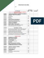 Presupuesto de Obra 2014