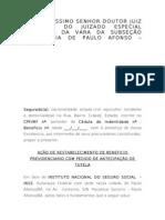 166791180 Acao de Restabelecimento de Auxilio Doenca